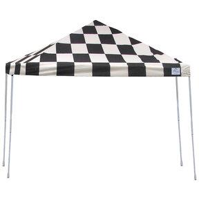 12ft. x 12 ft. Pro Pop-up Canopy Straight Leg, Checker Flag Cover