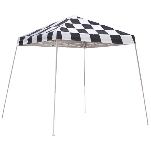 View a Larger Image of 8 ft. x 8 ft. Sport Pop-up Canopy Slant Leg, Checker Flag Cover