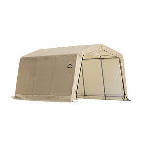 Auto Shelter, 10' x 15' x 8', Peak Style Instant Garage, Sandstone