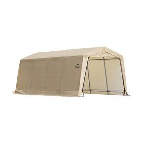 Auto Shelter, 10' x 20' x 8', Peak Style Instant Garage, Sandstone