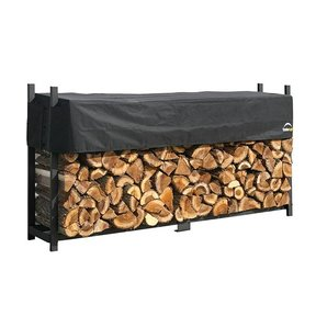 Firewood Rack-in-a-Box Ultra Heavy Duty with Cover, 8'