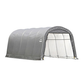Garage-in-a-Box 12' x 20' x 8', RoundTop Style, Gray