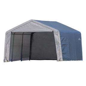 Shed-in-a-Box 12' x 12' x 8' Peak Style, Gray