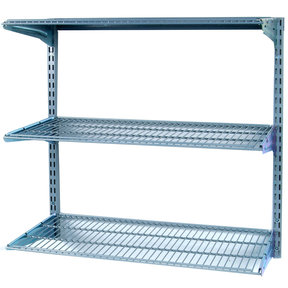 """Shelving Unit, 33"""" Wall Mount with 3 wire Shelves"""