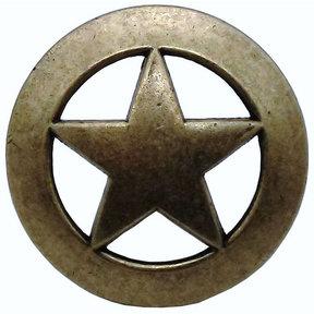Sheriff Star Knob, Brass Oxide