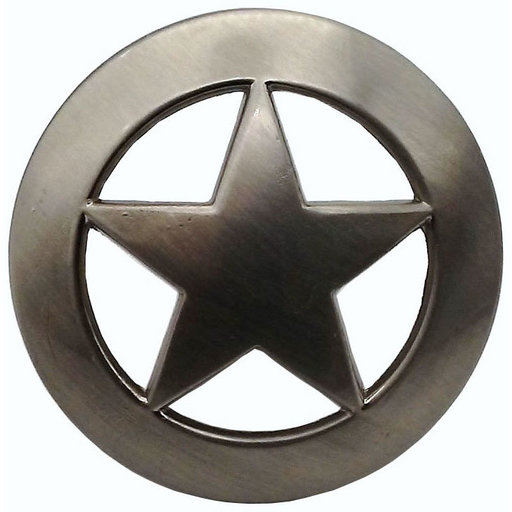View a Larger Image of Sheriff Star Knob, Satin Nickel