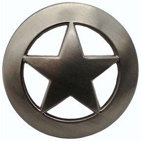 Sheriff Star Knob, Satin Nickel