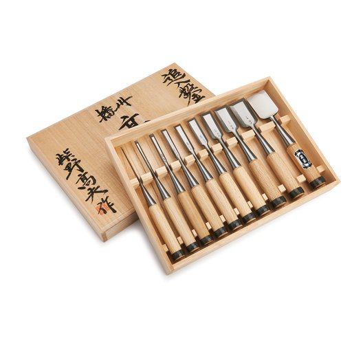 View a Larger Image of Shibano Oire Chisel 10pc Set