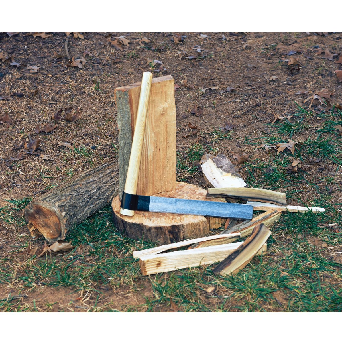 """View a Larger Image of Woodworkers Shingle Froe for Riving Wood - 18"""" Handle"""