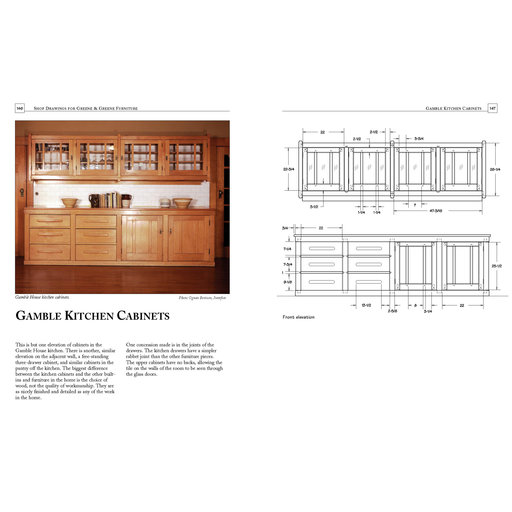 View a Larger Image of Shop Drawings for Greene and Greene Furniture