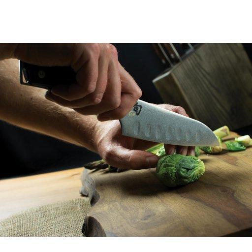 "View a Larger Image of Shun Kanso 5-1/2"" Santoku Hollow Ground Knife"