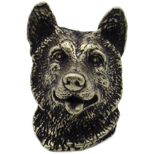 View a Larger Image of Siberian Husky Knob Brass Oxide