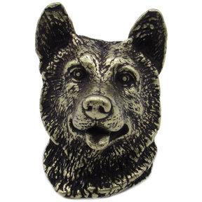 Siberian Husky Knob Brass Oxide