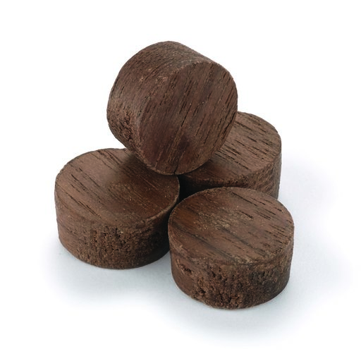 """View a Larger Image of Side Grain Screw Hole Plugs 1/2"""" Walnut 15-piece"""