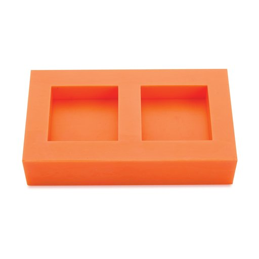 """View a Larger Image of Silicone 1/2"""" x 1-1/2"""" x 1-1/2"""" Ring Blank Mold Dual Cavity"""