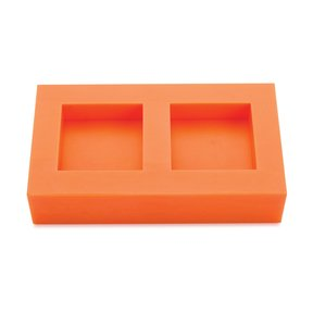 """Silicone 1/2"""" x 1-1/2"""" x 1-1/2"""" Ring Blank Mold Dual Cavity"""