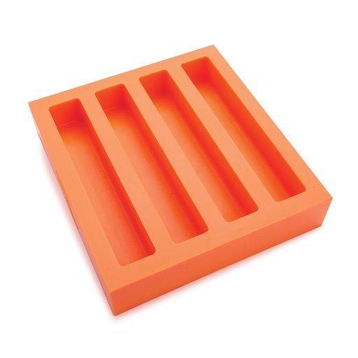 """View a Larger Image of Silicone 1"""" x 1"""" x 6"""" Oversized Pen Blank Casting Mold Quad Cavity"""