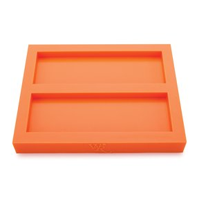 """Silicone 25/64"""" x 2"""" x 6"""" Knife Scale Mold Dual Cavity"""