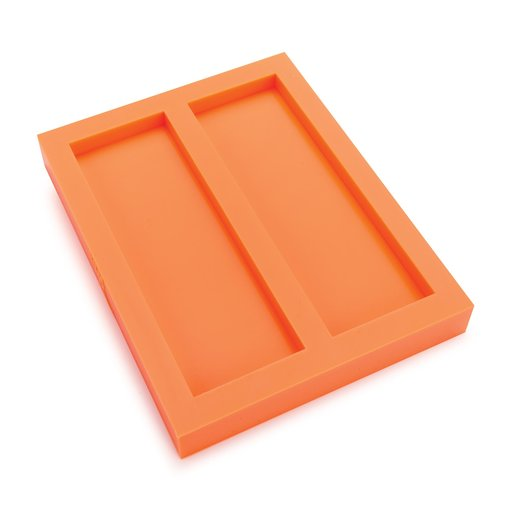 """View a Larger Image of Silicone 25/64"""" x 2"""" x 6"""" Knife Scale Mold Dual Cavity"""