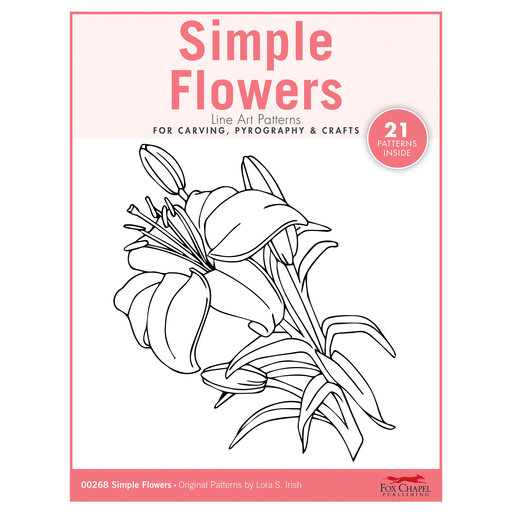 View a Larger Image of Simple Flowers Carving Patterns Pack