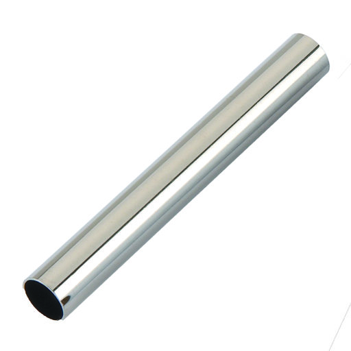 View a Larger Image of Slim Style Pen Bright Nickel Tubes 5 -Pair
