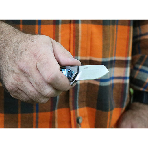 View a Larger Image of Slinger Flipper Knife - Gray