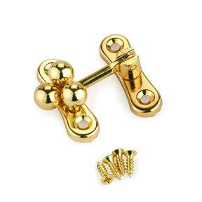 "Small Box Ball Clasp Brass 1-1/4"" x 1-1/4"""