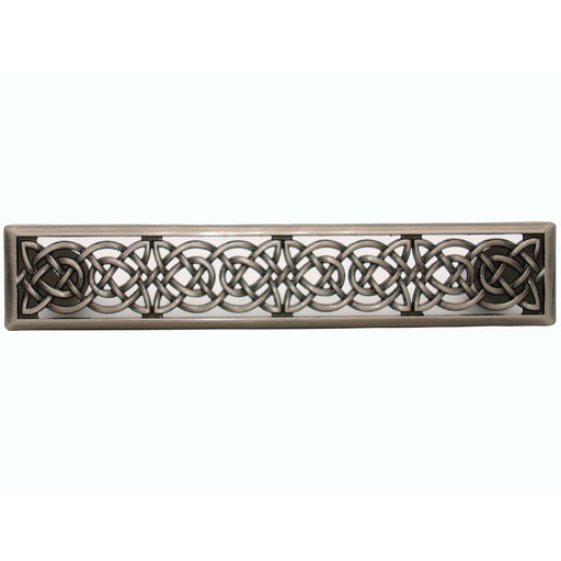 View a Larger Image of Small Celtic Style Pull, Satin Nickel Oxide