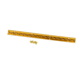 Small Piano Stop Hinge Brass Plated 200 mm x 9 mm