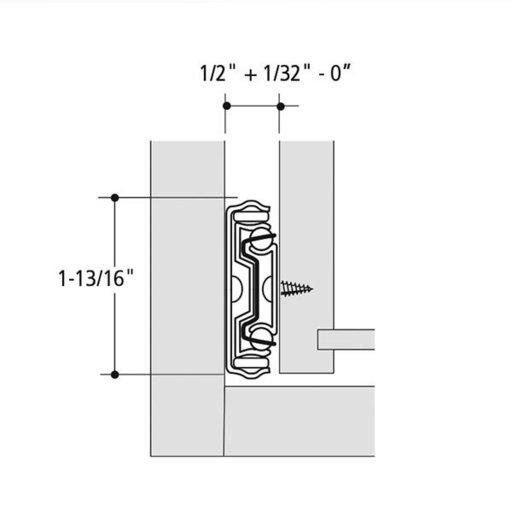 "View a Larger Image of 22"" Soft-Close Full Extension Side Mount Drawer Slide Model KV 8450FM Pair"