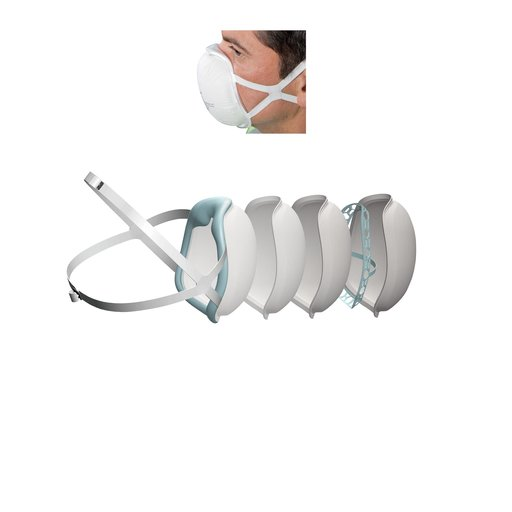 View a Larger Image of SoftSeal N95 3D+ Valved Mask(XL)