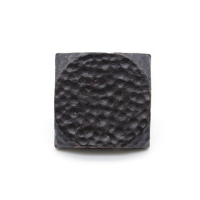 """Square 1-1/2"""" Hammered Clavo Decorative Nail, 4-Pack, Black Oxide"""