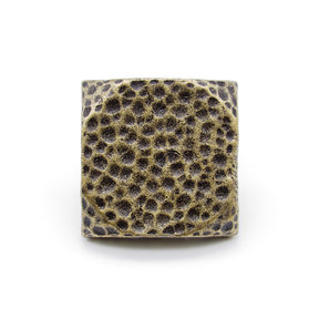 """Square 1-1/2"""" Hammered Clavo Decorative Nail, 4-Pack, Brass Oxide"""