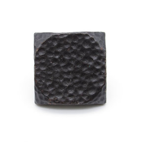 """Square 1-1/2"""" Hammered Clavo Decorative Nail, 4-Pack, Oil Rubbed Bronze"""