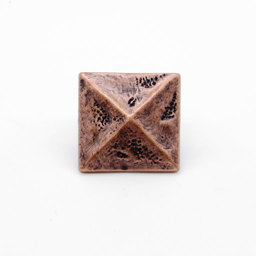 """View a Larger Image of Square 1-3/8"""" Pyramid Clavo Decorative Nail, 8-Pack, Copper Oxide"""