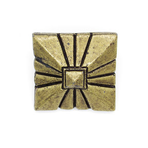 """Square 1-7/8"""" Clavo Decorative Nail, 4-Pack, Brass Oxide"""
