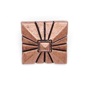 """Square 1-7/8"""" Clavo Decorative Nail, 4-Pack, Copper Oxide"""