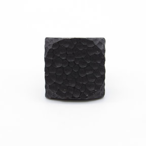 """Square 1"""" Hammered Clavo Decorative Nail, 4-Pack, Black Oxide"""