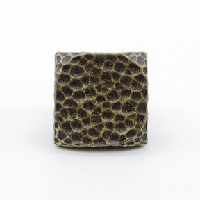 """Square 1"""" Hammered Clavo Decorative Nail, 4-Pack, Brass Oxide"""