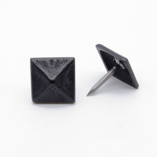 """View a Larger Image of Square 3/4"""" Pyramid Clavo Decorative Nail, 4-Pack, Black Oxide"""
