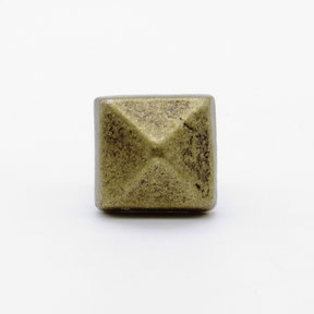 """Square 5/8"""" Clavo Decorative Nail, 4-Pack, Brass Oxide"""