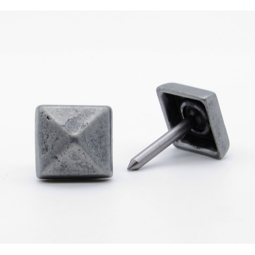 """View a Larger Image of Square 5/8"""" Clavo Decorative Nail, 8-Pack, Pewter Oxide"""