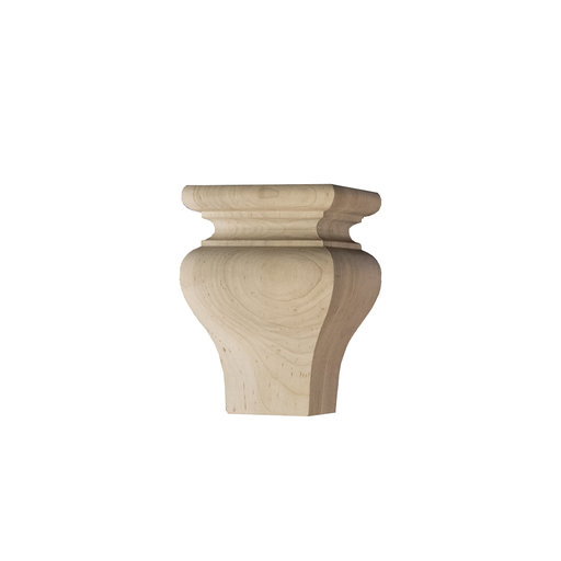View a Larger Image of Square Tulip Furniture Foot Soft Maple
