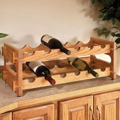 View a Larger Image of Stackable Wine Rack - Downloadable Plan