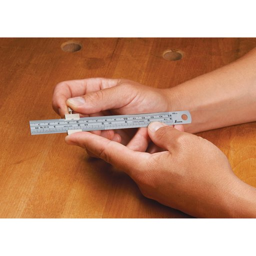 """View a Larger Image of Stainless Steel 6"""" Ruler Stop"""