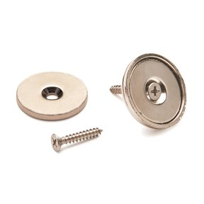 """Stainless Steel Magnetic Latch 1"""" Dia 40 lbs Holding Strength"""