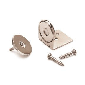 """Stainless Steel Magnetic Latch with Bracket 1"""" Dia 40 lbs Holding Strength"""
