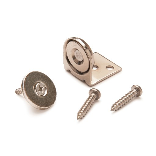 """View a Larger Image of Stainless Steel Magnetic Latch with Bracket 3/4"""" Dia 20 lbs Holding Strength"""