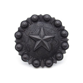 Star Clavo Decorative Nail, 4-Pack, Black Oxide