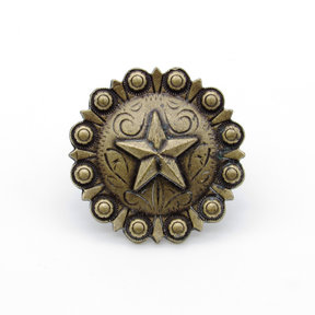 Star Clavo Decorative Nail, 4-Pack, Brass Oxide